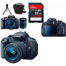Câmera Canon Eos T5i +18-135+bolsa+tripé+32gb+nota Fiscal Nf
