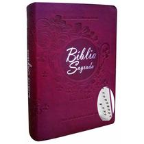 Bíblia Sagrada Letra Grande Feminina Índice A R C Vinho