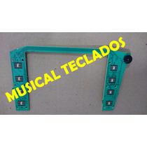 Placa Aro Do Display C/ Chave De Contrast Teclado Roland E50
