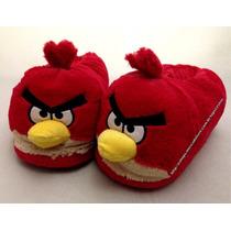 Pantufa Angry Birds Pelúcia 3d Tamanho 37/39 Original Ricsen