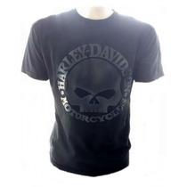 Camiseta Harley Davidson Moto Custon Skull Nova