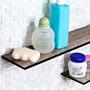 Prateleira Raque Ou Porta Shampoo De Vidro Com 40x10cm