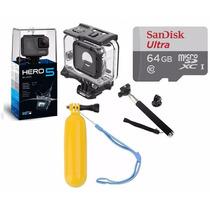 Go Pro Hero5 Black Camera Gopro 5+cx Estanque+64gb+02bastão