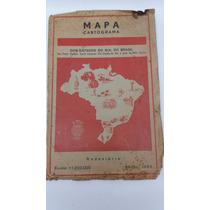 Mapa Cartograma Dos Estado Do Sul Do Brasil Edição 1964.