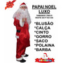 Fantasia Para Papai Noel - Roupa Completa + Barba