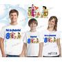 Lembrança De Aniversario Flintstones Camiseta Kit Com 3