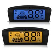 Sensor Estacionamento Ré Automotivo 4 Pontos Visor Lcd Flex
