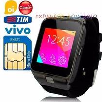 Relógio Celular Chip Smartwatch Gsm Touch Android Ios Sms Dz