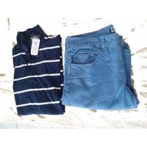 Kit Camisa Polo Mais Calça Jeans