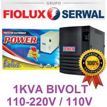 Protetor Estabilizador 1000va 1kva Bivolt / 110v Fiolux