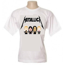 Camiseta Bandas South Park Camisa Ramones Nirvana Metallica