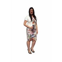 Moda Evangélica - Vestido Tubinho Estampado - Zunna Ribeiro