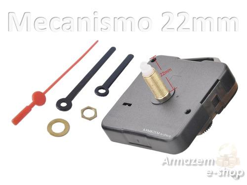 c9c595bd6a0 Kit Maquina Relógio Quartz De Parede Eixo 22mm C  Ponteiros