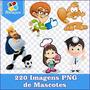 Pacote Mascotes Com 220 Imagens Em Png