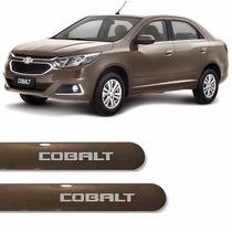 Friso Lateral Chevrolet Novo Cobalt 2016 Cinza Aztec *