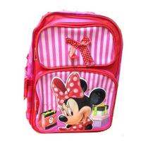 Mochila Disney Minnie Mouse Compra Vermelho Bolsa Escola 617