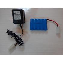 Kit Bateria E Carregador 6v 500mah Carro Tempestade Candide