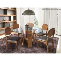 Conjunto Sala De Jantar Mesa E 6 Cadeiras Ciana - Mobillare