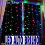 produto Cortina Cascata Led 2mx2m Pisca 8f - Iluminação Festas Natal