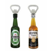 Abridor De Garrafa Cerveja Corona Ou Heineken Imã Geladeira