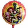 10 Balão Metalizado Toy Story Wood Buzz Decoração Gás Hélio