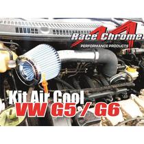 Intake Air Cool C/ Filtro De Ar Esportivo Duplo Fluxo Vw Gol
