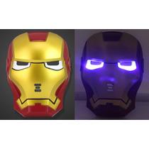 Mascara Homem De Ferro Com Led Nos Olhos