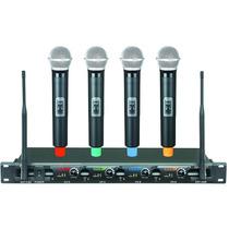Microfone Sem Fio Profissional 4 Canais Uhf . Icm 4008 Loja