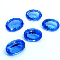 Topázil Azul 45.5 Quilates Lote Com 06 Pedras Ovais Lindas