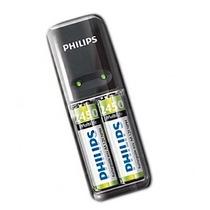 Carregador De Pilhas + Duas Philips Aa Multilife Mini Oferta