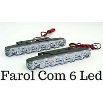 Farol Milha Neblina Day Light 8 Super Led Lampada Carro Moto