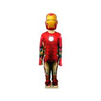 Fantasia Infantil Iron Man Vingadores 2 Longa Tam. G.