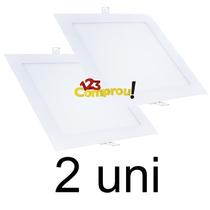 Kit 2 Painel Plafon 25w Led Quadrado Embutir - Frete Grátis