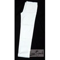 Calça De Sarja Branca C/ Strech-masculina-48-50-52-54-56-58