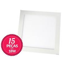 15 Painel Plafon Luminaria Sobrepor Teto Led Quadrado 18w