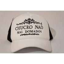 Boné Chucro Não Mao Domado Rodeio Sertanejo Tela Country