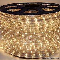 Mangueira Luminosa Led Decoração 1 Metro Branco Quente 220v