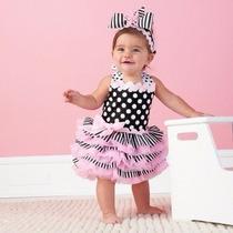 Vestido Bolinhas Para Bebe Importado Pronta Entrega