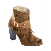 Ankle Boot- Botinha - Franjas - Salto Alto - Ziper