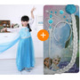 Fantasia Elsa Frozen Vestido Infantil Princesa + Acessórios