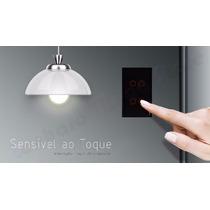 Interruptor Touch Livolo 4 Vias S/ Dimmer S/ Remote Preto