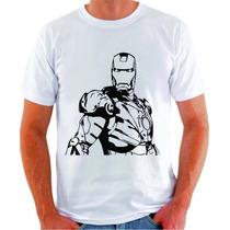 Camiseta Ironman Homem De Ferro Lineart Vetor 100% Algodão