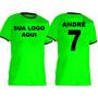 Camisa Futebol Personalizada Uniforme - Número Nome