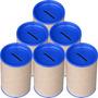 50 Cofrinhos De Papelão 6x10 - Tampa Azul Royal
