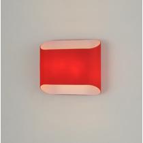 Arandela Moderna Em Vidro Vermelho