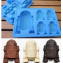 Forma / Molde Silicone Para Gelo Ou Chocolate Star Wars R2d2