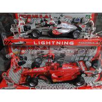 02 Equipes Formula 1 Vermelho E Prata Escala 1/18 Maclaren
