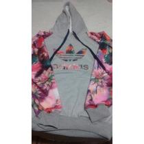 Blusa De Moletom Adidas Floral