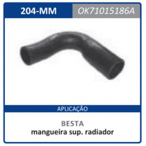 Mangueira Superior Radiador Motor 2.2 0k710. Besta:1986a2006