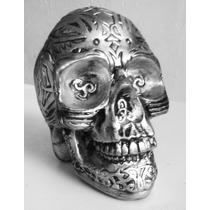 Cranio Mexicano Enfeite Decorativo Caveira Esqueleto 15cm